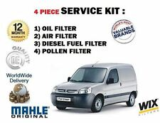 FOR PEUGEOT PARTNER 1.6 HDI 2005-6/2008 OIL AIR FUEL POLLEN FILTER SERVICE KIT