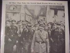 VINTAGE NEWSPAPER HEADLINE~WORLD WAR 2 NAZI GERMANY HITLER FUEHRER FAREWELL WWII