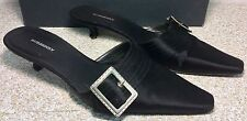 BURBERRY Womens Black leather Mules, Buckle Size UK 38 US 7.5