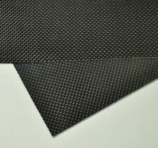 100mmX250mmX2mm 100% Carbon Fiber plate panel sheet 3K plain Weave Glossy Hot