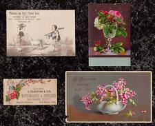 Lot B - 4 Victorian Cards Suitable for Art & Craft Projects