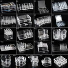 G0 Clear Acrylic Makeup Cosmetic Organizer Case Jewelry Storage Box Holder