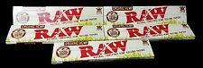 5 Packs Raw Organic Hemp King Size Slim Natural Unrefined Rolling Papers