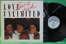 LOVE UNLIMITED Love is Back Unlimited Gold JZ 36130 LP wlpromo NM vinyl w.insert