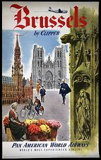 A3 SIZE - BRUSSELS BELGIUM - Vintage Retro Travel & Railways Poster Print #3