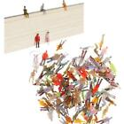 100Pcs 1:150 N Scale Mixed Painted Train Park Street Figures Model Passenger Toy