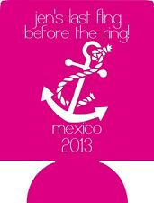 Lot 25 personalized bachelorette party koozies custom can party favor 10088