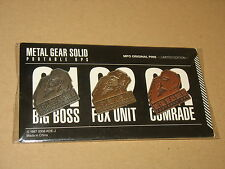 Metal Gear Solid Limited Edition original pins Pin Set Very Rare NEW