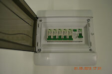 5 Way garage,shed,caravan,workshop consumer unit,distribution board RCD + 5MCB