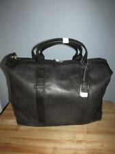 Frye Campus Extra Large Dakota Leather Overnight Weekender Bag Black Brass NWT