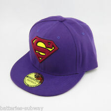 Hiphop New Superman Snapback Adjustable Red in Purple flat baseball cap hat Gift