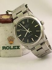 MENS ROLEX 5500 / 1002 AIR KING BLACK INDEX DIAL SS OYSTER