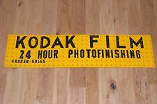 Vintage Kodak Film 24 Hour Photofinishing Pegboard Sign Photography Advertising