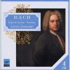 GUSTAV LEONHARDT - ENGLISH SUITES & PARTITAS 4 CD NEUWARE SOLO CEMBALO BACH