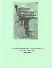 Mercury MARK 10, 10a & 15a Outboard Motor Manual 1957-1958