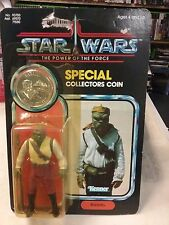 Vintage Barada Star Wars Power of the Force w/ coin 92 back Moc Last 17