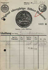 MÜNSTER i. W., Rechnung 1931, Original obergärige Altbier-Brauerei Joh. Müller