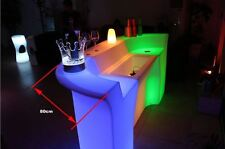 Light Up LED Bar Rechargeable Night Club Glowing partial counter(1 piece)
