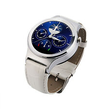 """NO.1 S3 Bluetooth Smart Watch Phone 1.22"""" Touch Screen SIM For Android IOS White"""