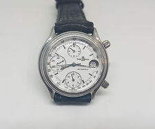 VINTAGE BAUME & MERCIER GENEVE CHRONOGRAPH WHITE DIAL AUTOMATIC MAN'S WATCH