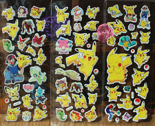3pcs Pokemon Pikachu Stickers Pocket Monster Sticker Scrapbooking Sheet Hot LCF