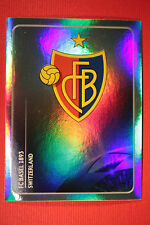 PANINI CHAMPIONS LEAGUE 2011/12 N 175 BADGE BASEL WITH BLACK BACK MINT!
