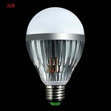 Well 9W/15W/21W/36W Super Bright Silver tone E27 LED Globe Bulb Warm/Cool White