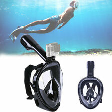 Full Face Dry Easy Breath Snorkel Mask Swimming Diving Scuba Goggle For GoPro US