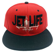 JET LIFE Embroidered Snapback Cap Hat