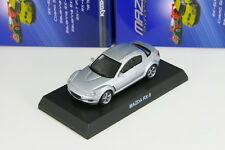 x Kyosho 1/64 Mazda RX-8 SE3P Silver Rotary Engine Minicar Collection 2013