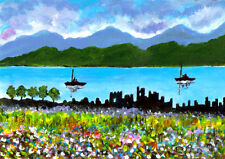 SCOTLAND. LOCH NESS AND THE RUINS OF URQUHART CASTLE, SPRING TIME, by FRED SEGAL