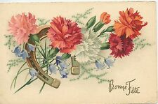 CARTE POSTALE / POSTCARD / LOT DE 5 CARTES FANTAISIE FLEUR / BONNE FETE