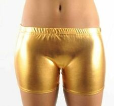 New Children Kids Metallic Hot Wet Look Shiny Party Disco Shorts Pants