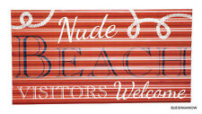 Cape Craftsmen Private Nude Beach Metal Corrugated Wall Sign Beach House Picture