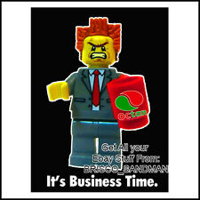 """Fridge Fun Refrigerator Magnet LEGO MOVIE """"IT'S BUSINESS TIME."""" Octan Awesome"""