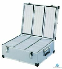 Neo Aluminium 630 CD DVD DJ Flight case with numbered sleeves With Lock Key