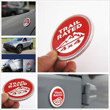 Red Metal 3D Trail Rated 4x4 Nameplate Emblem Decal Sticker Badge Truck Off Road