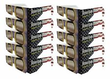 Solar Eclipse Glasses - American FLAG 10 Sleeved - ISO Certified CE Approved