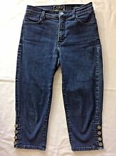 NYDJ Capri Jeans Not Your Daughters Jeans Size 0 US 4 UK Style 746 Stretch Denim