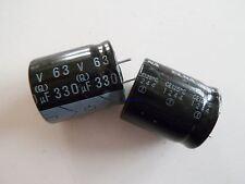 ELNA ELKO 330µF 63V (Q) CE125°C 3Polig *Neu* *10 Stück*