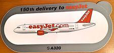 EASYJET, A320, Sticker, Aufkleber, High Quality, neu/new, TOP & SELTEN !!!