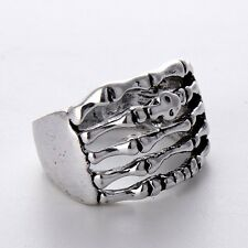 Wholesale Charms Gift Stainless Steel Skeleton Rings Fashion Men Jewelry Size 11