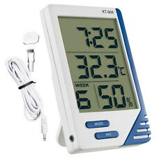 DIGITAL THERMOMETER HYGROMETER INDOOR OUTDOOR GREENHOUSE PROPAGATOR POTTING SHED