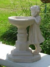 Concrete / Cement Statue Mold Girl At Birdbath Latex Rubber / fiberglass