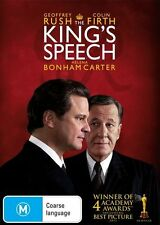 THE KING'S SPEECH Colin Firth DVD R4 New / Sealed - Geoffrey Rush