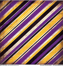SS Purple and Gold Striped Grunge Scrapbook Paper