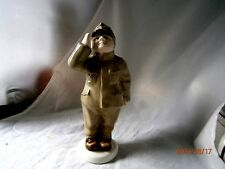 """Royal Dux Bohemia Pink Triangle 7"""" Figure """"Czech Soldier with Horn"""" OB"""