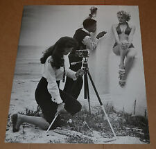 Vintage Fine Art B&W Photograph Print of Maria Stinger,Sammy Davis,Bonnie Yeager