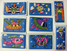 Lot of Eight Vintage Puffy Stickers - Spaceship UFO Alien Space Rocket Astronaut