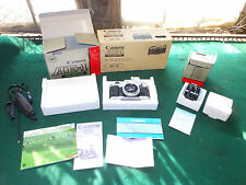 MIB Canon AE-1 Program 35mm SLR Film Camera Kit w/1.8 50mm FD Lens w/Boxes Clean